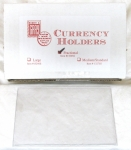 Box/100 Fractional Currency Safety Sleeve, Heavyweight Archival Quality.
