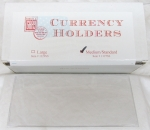 Box of 100 Standard/Medium Currency Sleeve 3x6 Heavyweight Archival Quality
