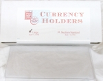 Box of 100 Large Currency Safety Sleeve, 3-1/2 x 8, Heavyweight Archival Quality