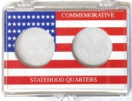 Box of 36 State Quarter, No Date, 2 Coin 2x3 Snaplock