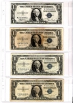 4 Pocket Vinyl Page for Medium Size Currency, Bx/100  R.C. Gray