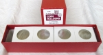 100 Half Dollar 2x2 Mylar, Deluxe Red Boxed