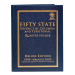 Large 9928 Fifty State, DC & Territorial Commemorative. Quarter P & D Deluxe Whitman Folder..