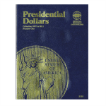 Small 2181 Presidential Dollar Vol #1, 2007-2011, 1 Coin Slot Whitman Folder