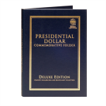 Large 2382 Presidential Dollars Commemorative Folder, P & D Deluxe Edition 2007-2018, 80 Opening...