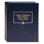Liberty Walking Half Dollars 1916-1947 Whitman Classic Album