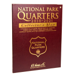 Bi-Fold Map, National Park Quarter  2010-2021 Whitman