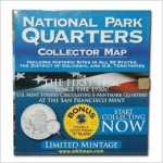 Map, Tri-Fold National Park Quarter  2010-2021 Whitman