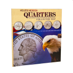 Map, Tri-Fold State Quarters Collection Whitman