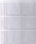 6 Pocket Pages 3x3 Size Dansco