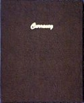 Currency Stock Book 9 Vinyl 3 Pocket Pages Dansco