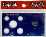 Birth Year 5 Coin Meteor Case, Blue Capital Plastics