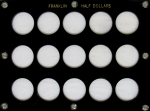 6x8 Franklin Half Dollar, (No Dates), 15 Coin Capital Plastics