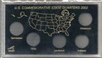 2002 State Commemorative Quarter 5 Coin Set Meteor Case Capital Plastics