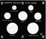 5x6 Liberty Seated Type Coins  Set, 7 Coin Capital Plastics