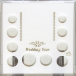 Wedding Year 10 Coin Set with Small Dollar Slot, Photo Area/Stand Capital Plastics