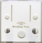 Wedding Year 5 Coin Set, Photo Area & Stand, Capital Plastics