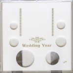 Wedding Year 6 Coin Set with Silver Eagle Slot, Photo Area/Stand Capital Plastics