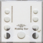 Wedding Year 9 Coin Set, 5 Quarters, Photo Area/Stand Capital Plastics