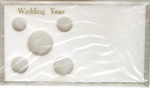 Wedding Year 5 Coin Set, Meteor Case Capital Plastics