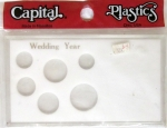 Wedding Year 6 Coin Set with Small Dollar Slot, Meteor Case Capital Plastics