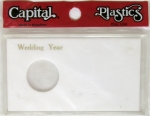 Wedding Year 1 Coin Silver Eagle Meteor Case Capital Plastics