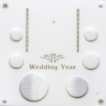 6x6 Wedding Year 6 Coin Set with Silver Eagle Slot Capital Plastics