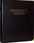 Deluxe Small/Medium Currency Album, 12 Pages, 36 Bills, Clear Both Sides Whitman