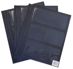 Pages For Large Deluxe Currency Album, 3 Pocket, Pack of 8 Only  Harris