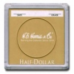 Half Dollar Color Coded 2x2 Display Case 25 Count Box - Harris