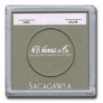 Sacagawea Dollar Color Coded 2x2 Display Case 25 Count Box - Harris