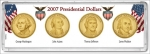 2007 Presidential Dollar 4 Piece Year Set Display Marcus
