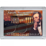 2x3 Lincoln Bicentennial Frosty Case, 2 Coin - Whitman