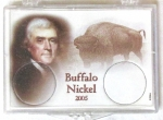 2005 Buffalo Reverse Commemorative Nickel Snaplock, 2 Coin