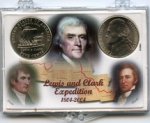2x3  2004 Commemorative Nickel, 2 Coin Lewis & Clark Frosty Case