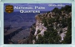 3x5 Canyon Design National Park Quarter Frosty Case, 6 Coin - Whitman