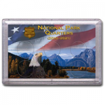 3x5 Mountain Design National Park Quarter Frosty Case, 6 Coin - Whitman