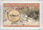 2x3 It's A Girl Sacagawea Dollar Frosty Case - Harris