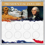 6x6 Presidential Dollar 'Frosty Case', 8 Coin - Whitman