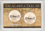 2x3 Sacagawea/Map P & D 2 Coin Frosty Case - Harris