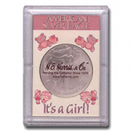 2x3 It's A Girl Silver Eagle Frosty Case - Harris