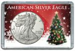 #1674 2x3 Silver Eagle From Santa Frosty Case Harris