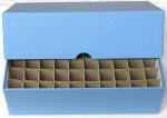 Nickel 50 Roll Vertical Storage Box, LIGHT Blue
