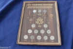 America's Wartime Coinage 5x7 Oak Frame and Insert Card 3 Cent & 11 Nickel
