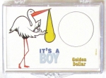 It's A Boy/Stork Golden $ 2x3 Snaplock
