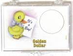 It's A Boy/Duck Golden $ 2x3 Snaplock