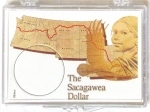 Sacagawea Map 2x3 Snaplock 1 Coin Case