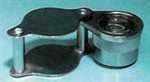 16X Loupe Magnifier, 7/8' Lens, Chrome Plated Brass Case  Swift