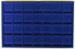 Blue 28 Slot 2 X 2 Coin Tray