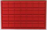 Red 28 Slot Coin 2x2 Tray